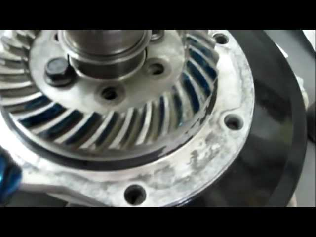 Bevel gear teeth check with prussian blue