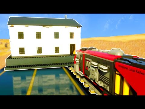 LEGO TRAIN CRASHES INTO BUILDING AT OVER 300 KM/H! - Brick Rigs Workshop Creations Gameplay