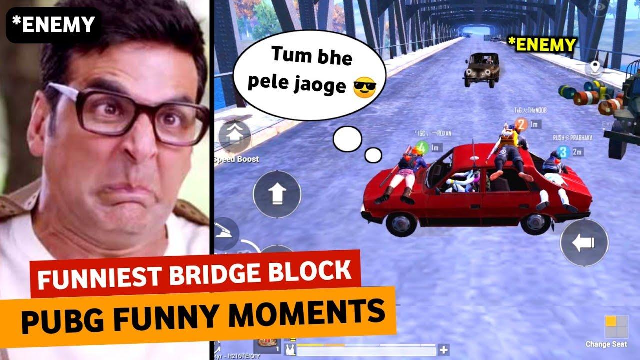FUNNIEST BRIDGE BLOCK EVER ? | PUBG MOBILE HINDI FUNNY MOMENTS