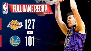 FULL GAME RECAP: LAKERS VS WARRIORS | IVICA ZUBAC STEPS UP ON CHRISTMAS