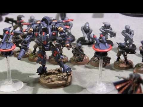 Battle Report - 1850 Imperial Guard VS Tau - Warhammer 40k - South Mississippi Gamers