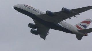 Crosswind Landings Day at London Heathrow Airport Live