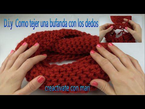 Como tejer bufandas con las manos magic scarf