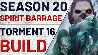 Diablo 3 | Season 20 | T16 Spirit Barrage Witch Doctor Build Guide | 2.6.8 PTR