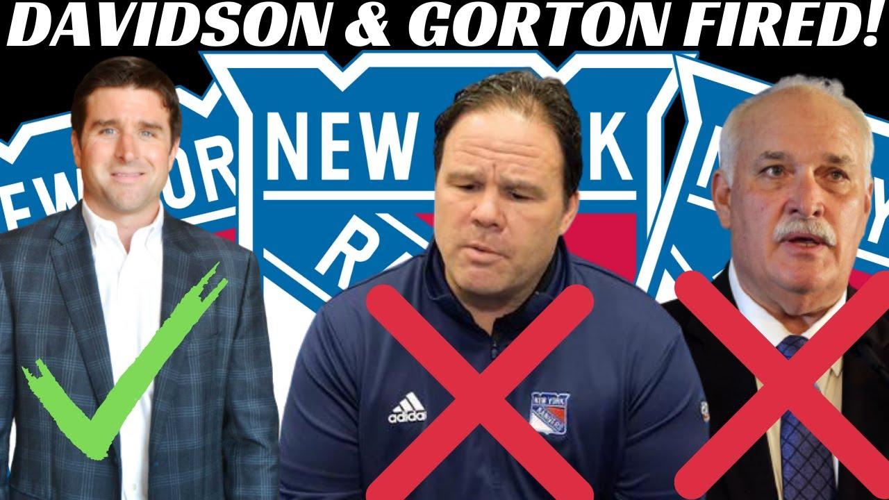 New York Rangers fire president John Davidson and GM Jeff Gorton