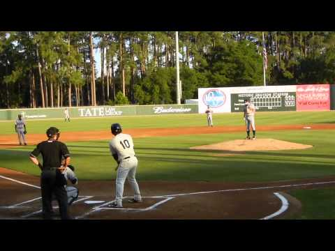 Darrell Ceciliani first at bat for the Savannah Sand Gnats