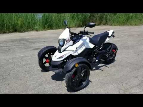 200cc Tryker White Motorcycle Trike Scooter Moped