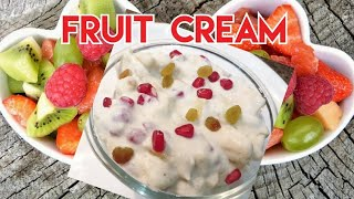 Fruit Cream | Instant Fruit Cream |Cream for fruit salad| Creaming Fruit Salad | eatinghub