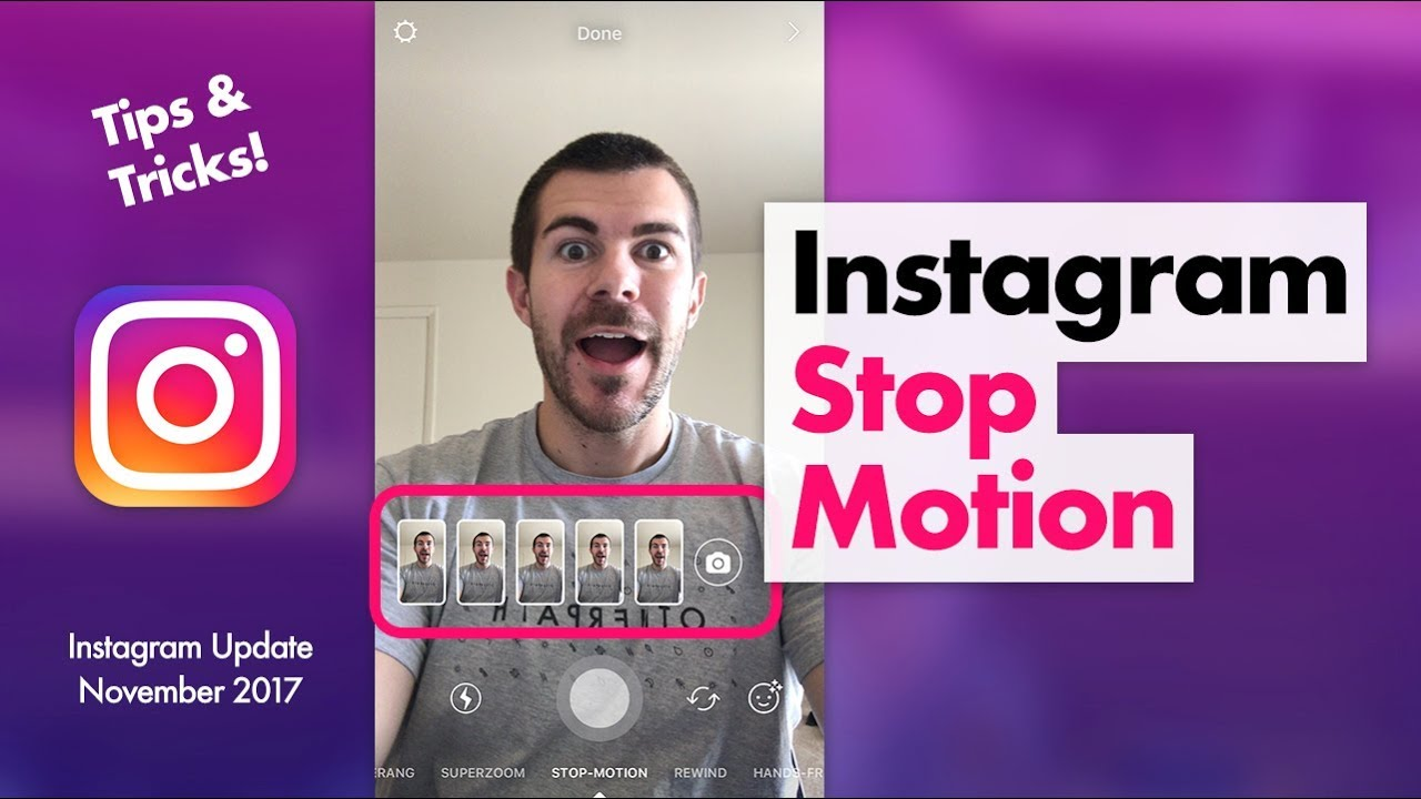 How to Use Instagram Stop Motion Feature - YouTube