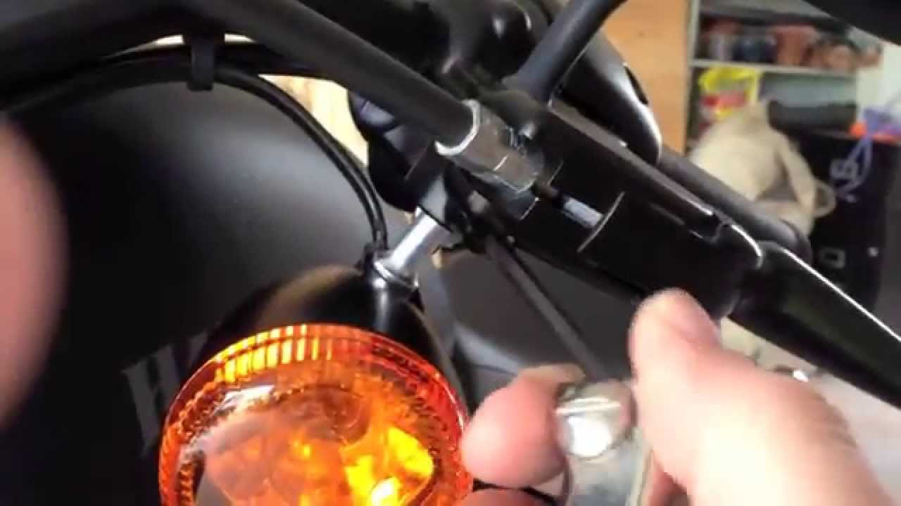 Flipping Mirrors On The Hd Iron Xl883n Youtube