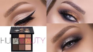 HUDA BEAUTY SMOKEY OBSESSIONS - 3 LOOKS 1 PALETTE     LASHES LOVE & LEATHER