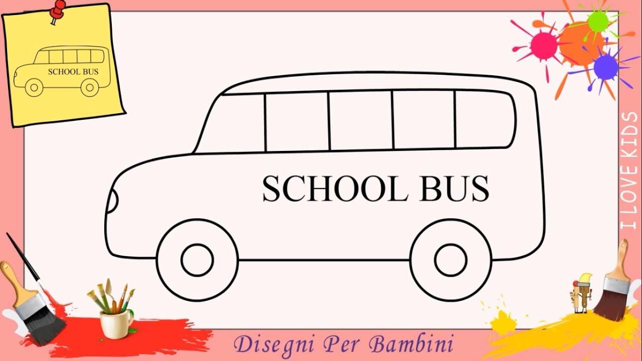 Come Disegnare Un Autobus Facile Passo Per Passo Per Bambini