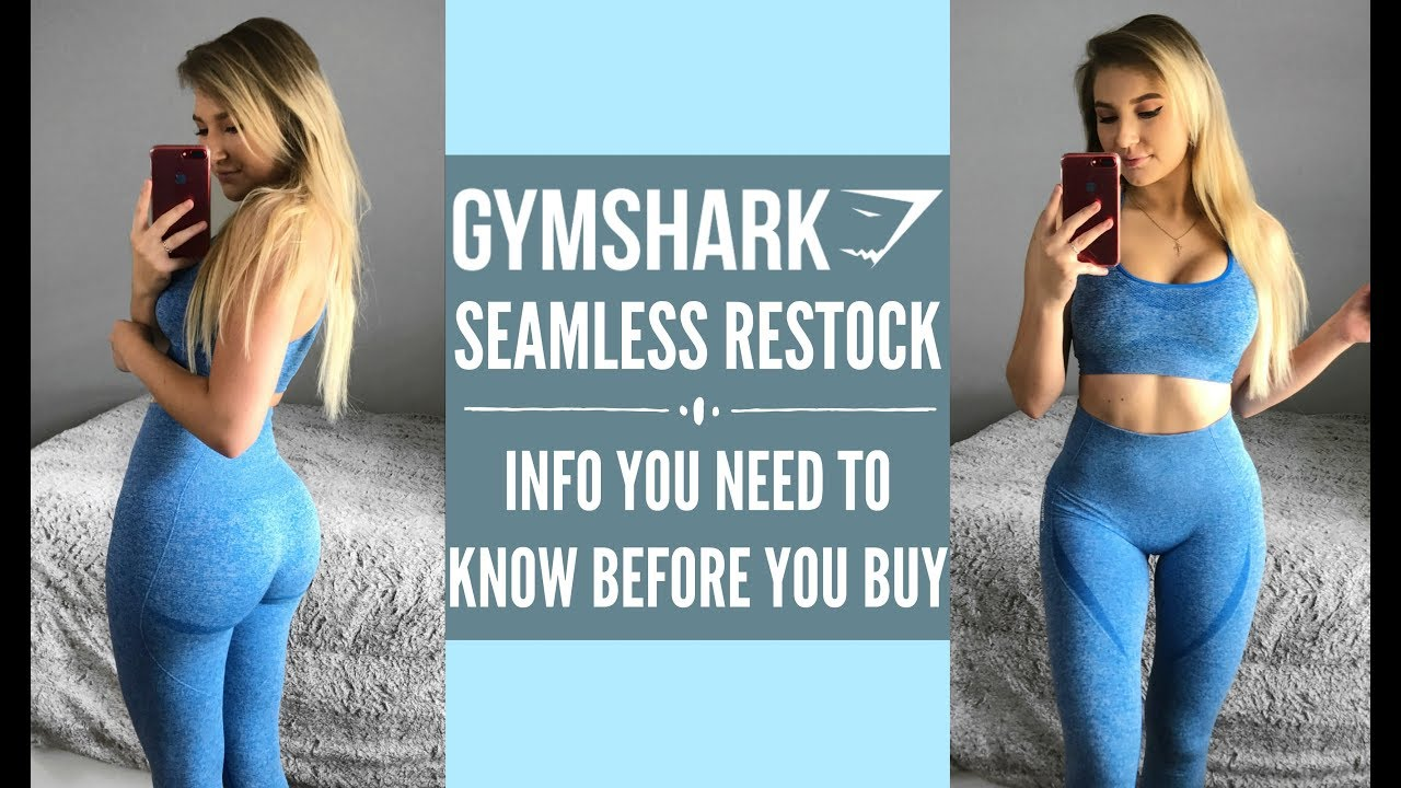 9c1f7728d054b GYMSHARK HAUL Seamless RESTOCK | INFO YOU SHOULD KNOW | Cute Gym Clothes  Haul/ Try On/ Review