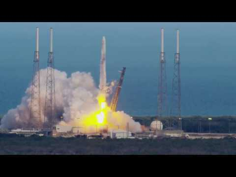 SpaceX CRS 14 - 4k Slow Motion