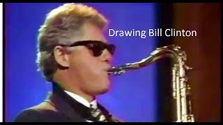 drawing bill clinton