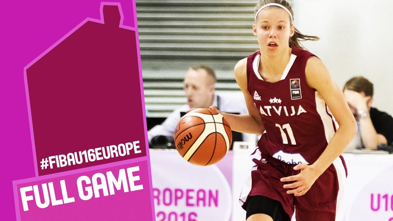 Russia v Latvia - Full Game - CL 9-12 - FIBA U16 Women's European Championship 2016