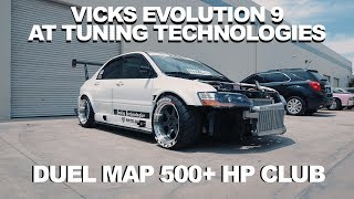 Vick Chandras Evo 9 tuned at Tuning Technologies   (insane boost)
