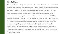 Allianz Saudi Fransi Cooperative Insurance Company (8040): Company Profile and SWOT Analysis