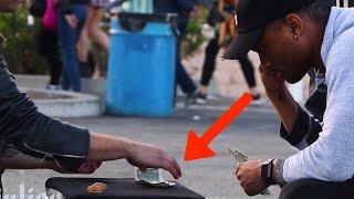 Street Hustler PRANK 😵(DO NOT ATEMPT THIS)  -Julien Magic