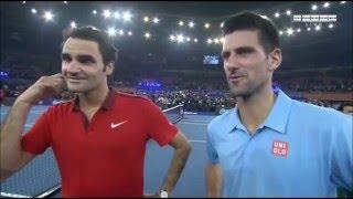 Federer, Djokovic - funny interview