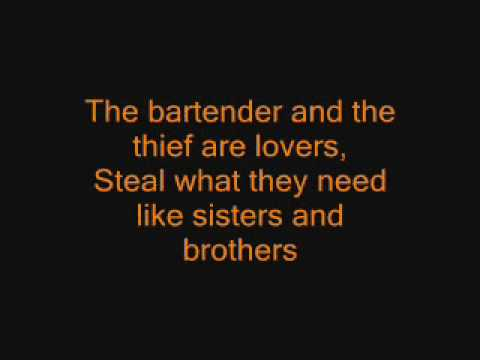 The Bartender and the Thief -  Stereophonics (lyrics)