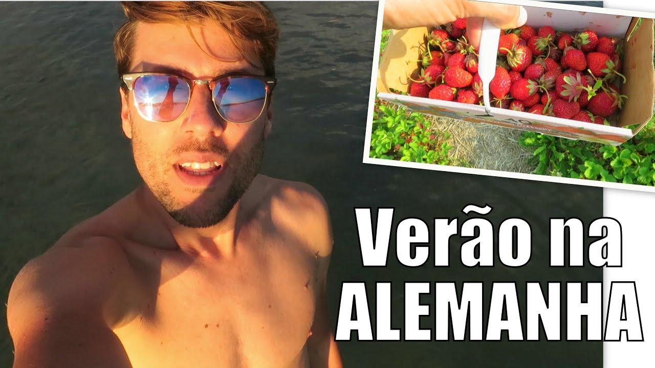 UMA SEMANA NO VERAO NA ALEMANHA | Campo de morangos, nadar no lago
