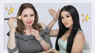Mom Follows My Makeup Routine 🤪 Daisy Marquez