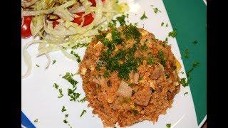 Рис Свинина и Яйцо в Мультиварке Скороварке Redmond RMC P350 Рецепты для Мультиварки