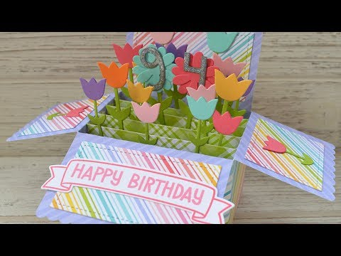 Lawn Fawn Video 42618 A Special Pop Up Birthday Card By Chari