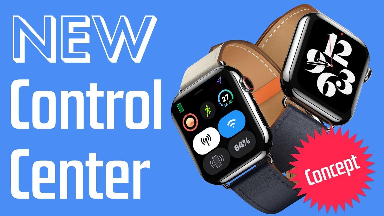 watchOS 8 Concept - Complications + Control Center = ☺️
