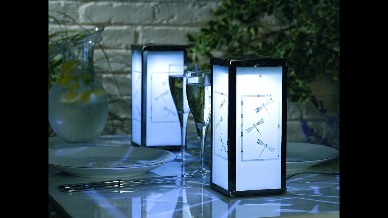 Garden solar lights garden solar lights flowers youtube for Garden decking homebase