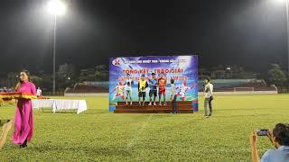 Trao giải vua phá lưới và thủ môn xuất sắc nhất giải bóng đá phong trào TKV năm 2018