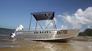 Quintrex Busta 420 Pro pack 30 E-tec  Fishing Boat Review