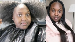 I RELAXED MY NATURAL HAIR AFTER 7 YEARS AND PUT IN A VERSATILE WEAVE USING ALI KLAYI HAIR