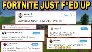 The ENTIRE Fortnite Community Is *FREAKING OUT* Because Epic Did This...