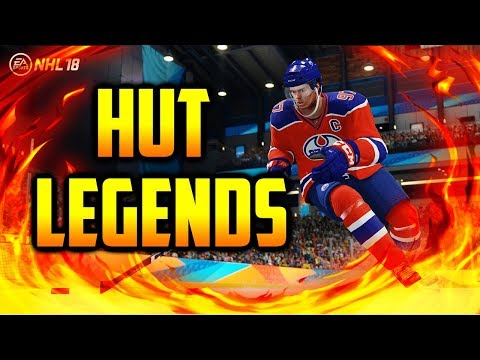 HOW TO MAKE LEGENDS BETTER & HUT CARDS IN NHL 18 HUT!
