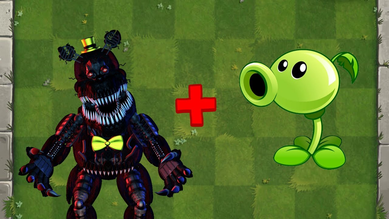 NIGHTMARE + Peashooter Fusion - Plants vs Zombies Animation