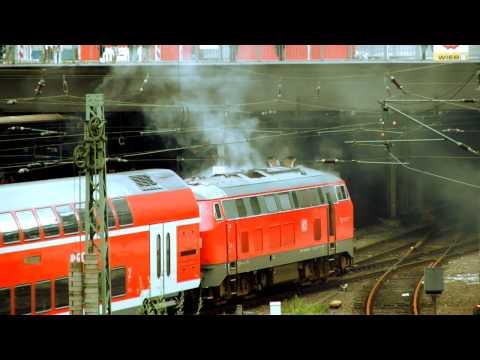 Diesel-Lok brennt (Hamburg