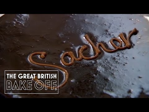 Shaping and Decorating the Sachertorte - The Great British Bake Off