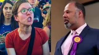 David Kurten destroys leftwing protester