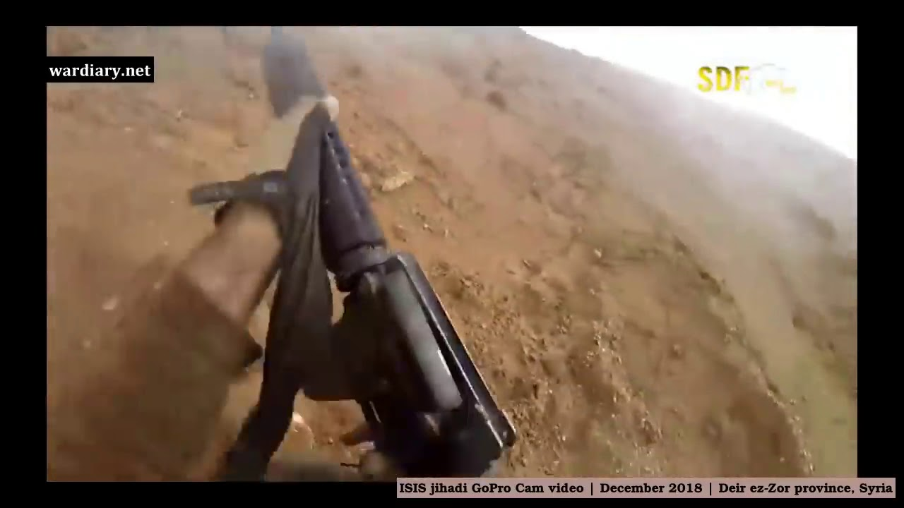 Video de cámara tomado de un ISIS jihadi muerto Diciembre de 2018 Deir ez Zor provincia, Siria