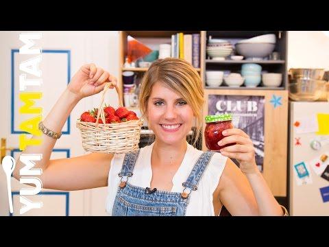 Erdbeermarmelade // mit Himbeeren und Vanille // #yumtamtam