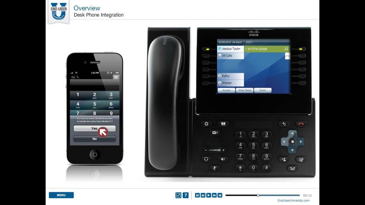CISCO Jabber 2012 for iPhone - Desktop Integration - YouTube