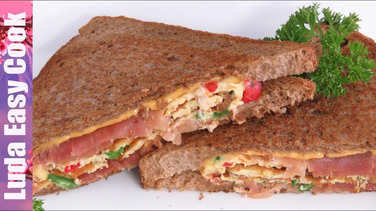 СЫТНЫЙ ВКУСНЫЙ ЗАВТРАК ОМЛЕТ В ХЛЕБЕ Идеи для завтрака | Breakfast Omelette Sandwich