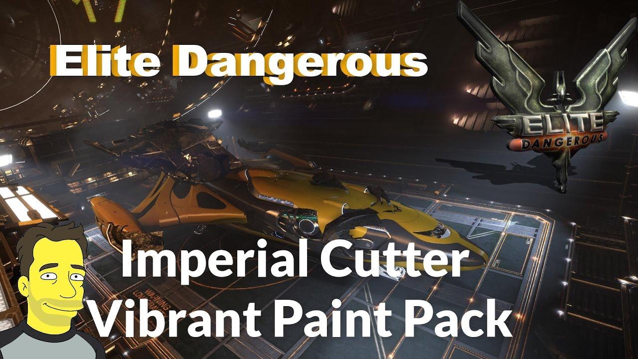 Elite: Dangerous Imperial Cutter Vibrant Paint job