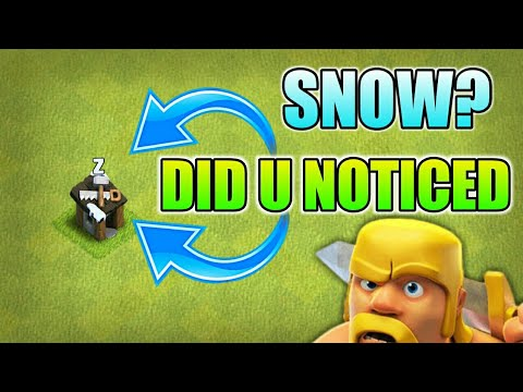 SNOW IN SUMMER!! NEW BUG IN CLASH OF CLANS BY TOMORROW'S UPDATE!!