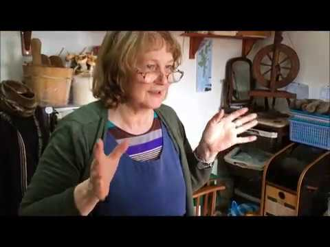 Fair Isle Knitting Demo from Shetland Island, UK