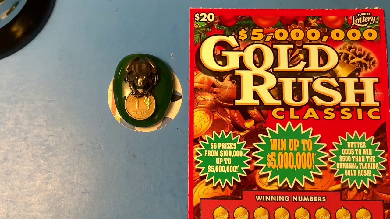 Florida Lottery Scratch Offs - Gold Rush Classic Ticket