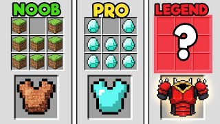 Minecraft - NOOB vs PRO vs LEGEND - ULTIMATE ARMOR!