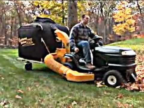 Cyclone Rake Tow Behind Leaf Vacuum Youtube